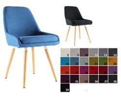 usine17 plateform2 chaises scandinaves rembourres bd6024 et tissu pieds hetre - Chaise Scandinave Rembourree