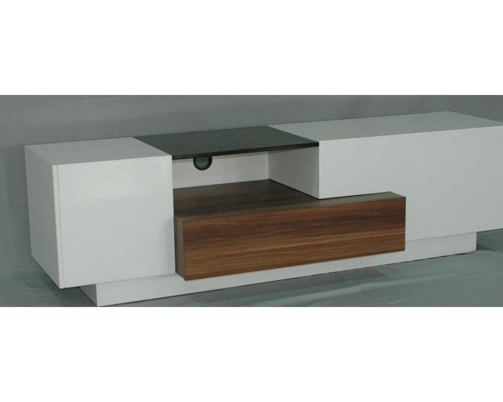 Importateur chine 3bd 1747 180 cm blanc et noyer for Importateur meuble